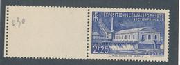 FRANCE - N° 430 NEUF* AVEC CHARNIERE AVEC BORD DE FEUILLE - 1939 - Ungebraucht