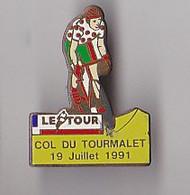 PIN'S THEME SPORTS / CYCLISME TOUR DE FRANCE  19 JUILLET 1991 COL DU TOURMALET - Ciclismo
