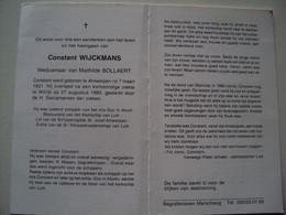 Doodsprentje/Bidprentje  Constant WIJCKMANS (Wedr M.BOLLAERT)Antwerpen 1931-1992 Wilrijk Rust.schipper M/s Duc In Altum - Religion & Esotericism