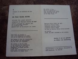 Doodsprentje/Bidprentje  Guido ACOE (Echtg S.DE MEY)Brugge 1933-1975  OFFICIER TER LANGE OMVAART - Religion & Esotericism