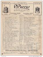 """69 BELLEVILLE SUR SAONE  Document  TARIF 1937  Pulvérisateurs Marque PERRAS   """" Soleil """" Et """" Idéal """" Rhone - Agricoltura"""