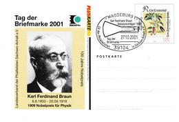 126  Braun, Prix Nobel Physique 1909 - Nobel Prize In Physics, Wireless Telegraphy, Cathode-ray Tube, TV Radio Marconi - Physique