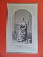 Image Pieuse Gravure Letaille N° 48 - 1884 - Décès De Léon DUFOUR - Madone De L' Eglise Trinité Du Mont Seine-Maritime - Religion & Esotericism