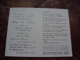 Doodsprentje/Bidprentje   Bartje De Schutter (zoontje Freddy & Julienne Nys) Bornem 1979 - 1992 Bachte-Maria-Leerne - Religion & Esotericism