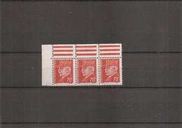 """France ( 511 En Bande De 3 XXX -MNH- 1 Timbre Avec Variété """"CEDILLE"""" ) - Varietà: 1941-44 Nuovi"""