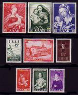 348-356 Saarland: Jahrgang 1954 Komplett, ** - Unclassified