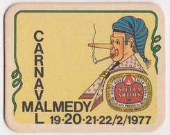 Carnaval Malmédy 77 Lu Long-Né Stella Artois Ancien Sous-bock Coaster - Beer Mats