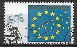 TCHECOSLOVAQUIE   -  1990.   Y&T N° 2867 Oblitéré.  Symbole De L' Europe - Usados
