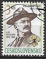 TCHECOSLOVAQUIE   -  1991.   Y&T N° 2874 Oblitéré.  Scoutisme - Usados