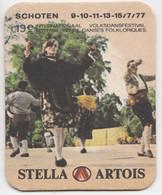 Schoten 1977 Danses Folkloriques Stella Artois Ancien Sous-bock Coaster - Beer Mats