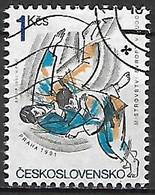 TCHECOSLOVAQUIE   -  1991.   Y&T N° 2875 Oblitéré.  Judo - Usados