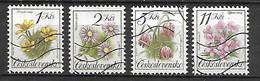 TCHECOSLOVAQUIE   -  1991.   Y&T N° 2898 à 2901 Oblitérés.   Fleurs.   Série Complète. - Usados