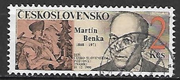 TCHECOSLOVAQUIE   -  1991.   Y&T N° 2908 Oblitéré.  Journée Du Timbre.  Martin Benka, Graveur. - Usados