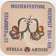Muziekfestival Neerpelt Stella Artois Ancien Sous-bock Coaster - Beer Mats