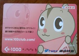 GIAPPONE Ticket Biglietto Bus Metro Treni Fumetti - SF Card 1000 ¥ - Usato - Monde