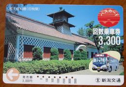 GIAPPONE Ticket Biglietto Bus Metro Treni Edifici -  Card 3300 ¥ - Usato - Monde