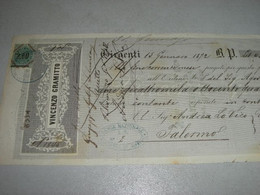 CAMBIALE DITTA VINCENZO GRAMITTO -GIRGENTI 1872 CON MARCA DA BOLLO - Cambiali