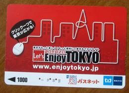 GIAPPONE Ticket Biglietto Bus Metro Treni Enjoy Tokyo PC Mouse Card 1000 ¥ - Usato - Monde
