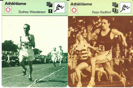 GF1905 - FICHES RENCONTRE - ROGER BANNISTER - JACK HOLDEN - GORDON PIRIE - PETER RADFORD - SYDNEY WOODERSON - Athletics
