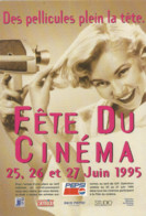 F100 / CARTE Publicitaire CPM Advertising Card Cart' Com Cartcom CINEMA Fete Du Cinéma 1995 PELLICULES - Unclassified