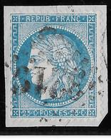 TIMBRE N°60 (1)50 G1, Sans Trait Sur  Le S - 1871-1875 Ceres