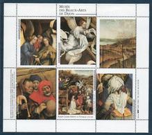 France Bloc De 6 Vignettes Avec Gomme Sans Charnières Du Musée Des Beaux Arts De Dijon Cote D'or - Otros