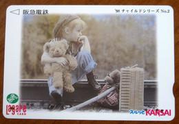 GIAPPONE Ticket Biglietto Bus Metro Treni Orsetto Teddy Bambini Kansai Lagare Card 2000 ¥ - Usato - Monde