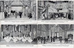 CHATELET - Lot De 4 CPA - Le Tour Du Monde En 80 Jours    (121639) - Theatre