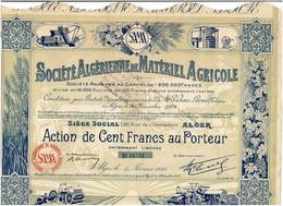 ALGERIE. ALGERIENNE DE MATERIEL AGRICOLE. STE ...  DECO Capital 1,6 MF  Lot De 4 - Other