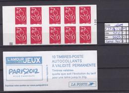 ANNEE 2001 SPLENDIDE LOT DE LUXE CARNET NON PLIER N° 3744-C1a NEUF (**) CÔTE 50.00€ CARRE NOIR BAS DU CAR A SAISIR!!!!!! - Commemoratives