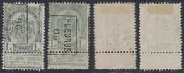 """Armoiries - N°81 Préo """"Fleurus 06"""" Position A/B Complet (n°763) / Cote Approximative 30e - Roulettes 1900-09"""