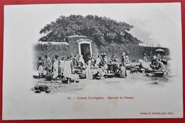 Cpa GUINEE PORTUGAISE Marche De Bissau - Guinea-Bissau
