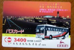 GIAPPONE Ticket Biglietto Bus Card 3400 - Usato - Monde