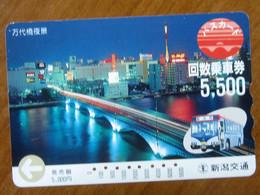 GIAPPONE Ticket Biglietto Bus Card 5500 - Usato - Monde