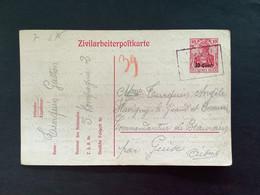 Postkaart Belgien 10 Cent - Gestempeld GEPRUFT - [OC1/25] Gov. Gen..
