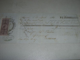 CAMBIALE SMIRNE 1866 CON MARCA DA BOLLO - Lettres De Change