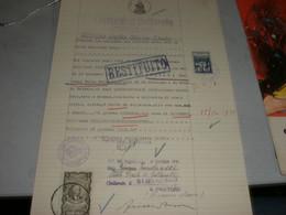 DOCUMENTO COMUUNE DI GALLARATE CON MARCA DA BOLLO MUNICIPALE LIRE 1 BLU GALLARATE - Documenti Storici