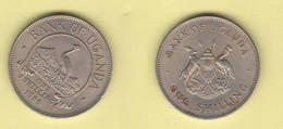 Uganda One Schilling 1966 Bank Of Uganda  Nickel Coin - Uganda