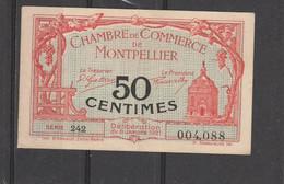 Chambre Commerce MONTPELLIER  - Billet 50 Centimes - 6/1/1921 - Série 242 - 004088 - En L'état - Cámara De Comercio