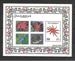 Somalia 2001 Marine Life -  Starfish MS MNH - Somalia (1960-...)