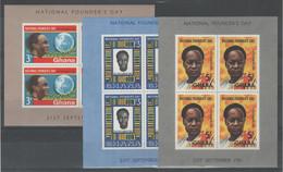 Ghana 1961 - Giornata Del Fondatore 3 Bf **           (g7678) - Ghana (1957-...)