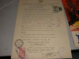 DOCUMENTO COMUNE GORLA MINORE PROV.VARESE CON MARCHE DA BOLLO MUNICIPALI - Documenti Storici