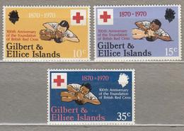 GILBERT ELLICE ISLANDS 1970 Red Cross MH Mi 154-156 #27812 - Gilbert- Und Ellice-Inseln (...-1979)