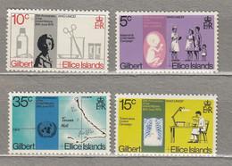 GILBERT ELLICE ISLANDS 1970 Medicine MH Mi 157-160 #27813 - Gilbert- Und Ellice-Inseln (...-1979)