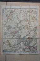 Namur Rhines Bovesse Suarlee Warisoulx Carte Toilée Réimprimée 1904 - Carte Geographique