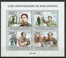 Burundi YT 2178-2181 En Feuillet Dentelé Neuf Sans Charnière XX MNH Mao - 2010-..: Mint/hinged