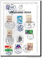 ALLEMAGNE   Carte 1 Er Jour  500 Ans De Poste  1990 Facteur Diligence Cheval Fusee Navette - Posta