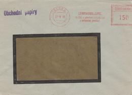 Czechoslovakia, Letter, Cancelled Liberec 1, 27.10.48, Machine Cancellation Lehrmann A Spol., Textile, Fabrics - Covers & Documents