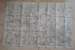 Charleroi Binche Andennes Roeulx SEneffe Luttre Charbonnage Charbon Limites Carte Toilée Réimprimée 1908 - Carte Geographique