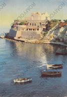 CARTOLINA  ISOLA DI ISCHIA,GOLFO DI NAPOLI,CAMPANIA,LA CHIESA DEL SOCCORSO A FORIO,MARE,SOLE,ESTATE,VIAGGIATA 1958 - Napoli (Napels)